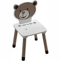 TEMPO KONDELA Detská stolička, čokoládová/biela, PUFF 234551