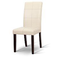 TEMPO KONDELA Jedálenská stolička, tmavý orech/ekokoža krémová, RORY