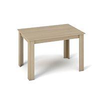 TEMPO KONDELA Jedálenský stôl 120x80, DTD laminovaná/ABS hrany, Dub sonoma, KRAZ