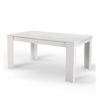 TEMPO KONDELA Jedálenský stôl, biely, 160x90 cm, TOMY