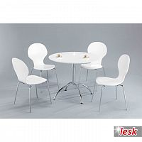 TEMPO KONDELA Jedálenský stôl, biely lesk, NEROLA