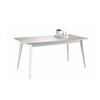 TEMPO KONDELA Jedálenský stôl, dub sonoma/biela, NATURA 223492
