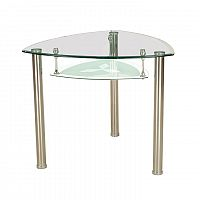 TEMPO KONDELA Jedálenský stôl, oceľ/sklo, KAROL