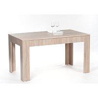 TEMPO KONDELA Jedálenský stôl, rozkladací, dub sonoma, 140/180x80 cm, ADMIRAL