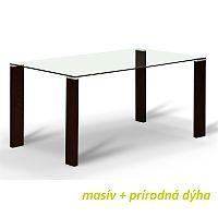 TEMPO KONDELA Jedálenský stôl, s tvrdeným sklom 12 mm, wenge, NEMEZ