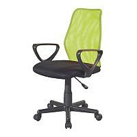 TEMPO KONDELA Kancelárska stolička, zelená, BST 2010