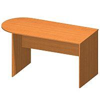 TEMPO KONDELA Kancelársky stôl s oblúkom, čerešňa, TEMPO ASISTENT NEW 022
