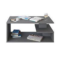 TEMPO KONDELA Konferenčný stolík, DTD laminovaná, sivá grafit, MARSIE