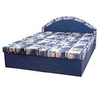 TEMPO KONDELA Manželská posteľ, modrá, EDVIN