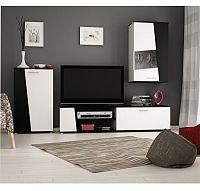 TEMPO KONDELA Obývacia stena, čierno/biela, PISA