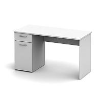 TEMPO KONDELA PC stôl, biela, EGON