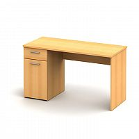 TEMPO KONDELA PC stôl, buk, EGON