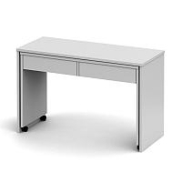 TEMPO KONDELA PC stôl rozkladací, biela/biela, VERSAL NEW