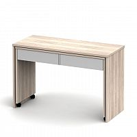 TEMPO KONDELA PC stôl rozkladací, dub sonoma/biela, VERSAL NEW