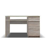 TEMPO KONDELA PC stôl, typ 10, jednodverový, jednozásuvkový, dub sonoma, PANAMA