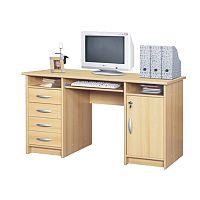TEMPO KONDELA PC stolík, buk, B9