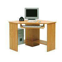 TEMPO KONDELA PC stolík, rohový, buk, B3