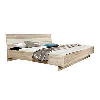 TEMPO KONDELA posteľ 180x200 cm, dub pieskový/biela, VALERIA