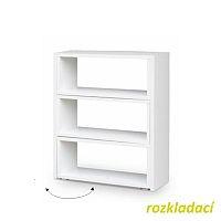 TEMPO KONDELA Regál, biely, DTD laminovaná, KLOE III