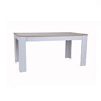 TEMPO KONDELA Stôl, Biela/Dub San Remo, Provensal