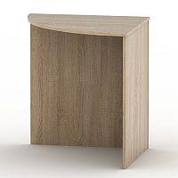 TEMPO KONDELA Stôl rohový oblúkový, dub sonoma, TEMPO ASISTENT NEW 024