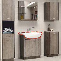 TEMPO KONDELA Umývadlo, keramické, OLIVIA UM 16