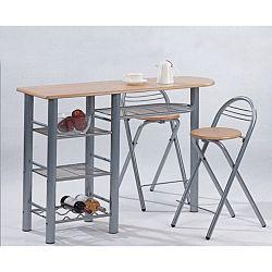 TEMPO KONDELA Barové stoličky + barový pult, BOXER