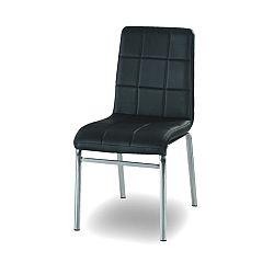 TEMPO KONDELA Chrómová stolička, chróm/ekokoža čierna, DOROTY NEW