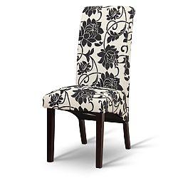 TEMPO KONDELA Jedálenská stolička, biela/tmavý orech, JUDY