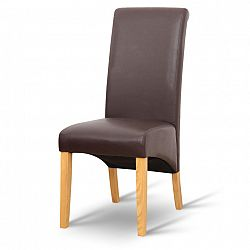 TEMPO KONDELA Jedálenská stolička, hnedá, prírodná, JUDY