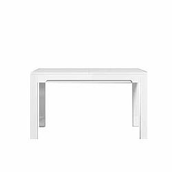 TEMPO KONDELA Jedálenský rozkladací stôl, san remo/biely vysoký lesk, LORIEN LS 88