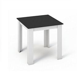 TEMPO KONDELA Jedálenský stôl 80x80, DTD laminovaná/ABS hrany, Biela/Čierna, KRAZ