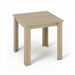 TEMPO KONDELA Jedálenský stôl 80x80, DTD laminovaná/ABS hrany, Dub sonoma, KRAZ