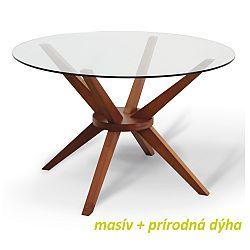 TEMPO KONDELA Jedálenský stôl, čerešňa, GLAS