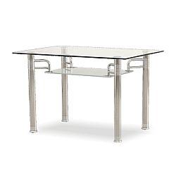TEMPO KONDELA Jedálenský stôl, chróm/sklo, RENE - NEW