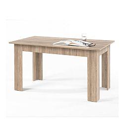 TEMPO KONDELA Jedálenský stôl, dub sonoma, 140x80 cm, GENERAL