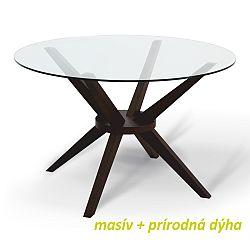 TEMPO KONDELA Jedálenský stôl, wenge, GLAS