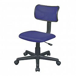 TEMPO KONDELA Kancelárska stolička, modrá, BST 2005