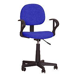 TEMPO KONDELA Kancelárska stolička, modrá, TC3-227