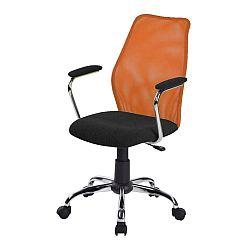 TEMPO KONDELA Kancelárska stolička, oranžová, BST 2003