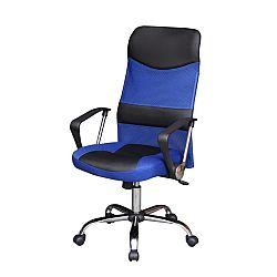 TEMPO KONDELA Kancelárske kreslo, čierno/modré, TC3-973M