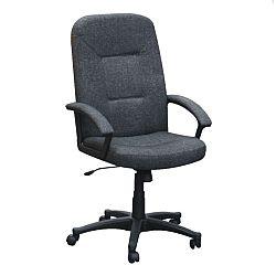 TEMPO KONDELA Kancelárske kreslo, sivo/čierne, TC3-867F