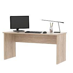 TEMPO KONDELA Kancelársky stôl, dub sonoma, JOHAN 01