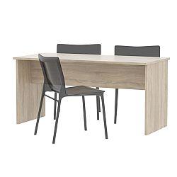 TEMPO KONDELA Kancelársky stôl obojstranný , dub sonoma, JOHAN 08