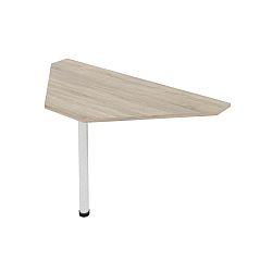 TEMPO KONDELA Kancelársky stôl rohový, dub sonoma, JOHAN 11
