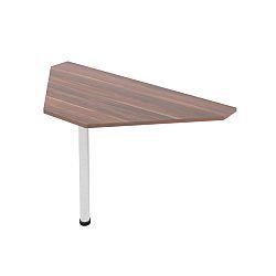 TEMPO KONDELA Kancelársky stôl rohový, slivka, JOHAN 11