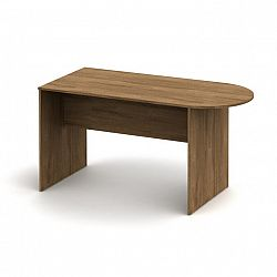 TEMPO KONDELA Kancelársky stôl s oblúkom, bardolino tmavé, TEMPO ASISTENT NEW 022