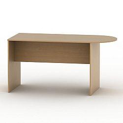 TEMPO KONDELA Kancelársky stôl s oblúkom, buk, TEMPO ASISTENT NEW 022