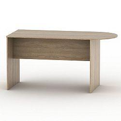 TEMPO KONDELA Kancelársky stôl s oblúkom, dub sonoma, TEMPO ASISTENT NEW 022