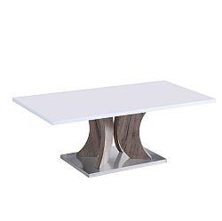 TEMPO KONDELA Konferenčný stolík, biela+dub sonoma, ARISTID